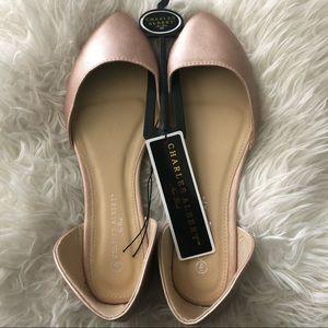 NWT Charles Albert Gold Dorsay Ballet Flats